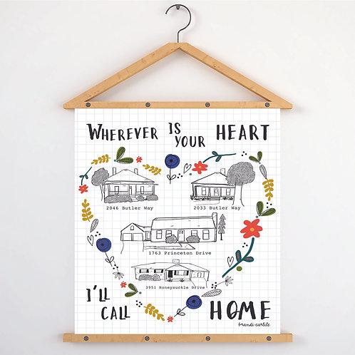 Custom Home Print 11x17