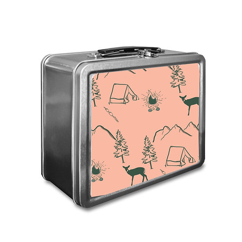 Mountains Lunchbox Pink