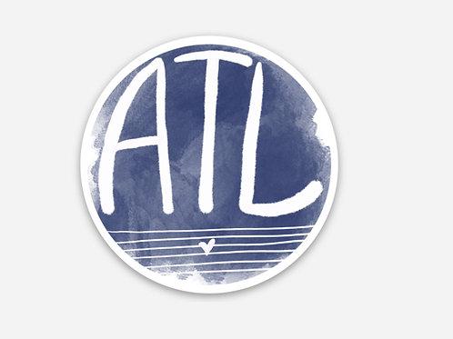 ATL circle sticker