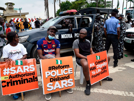 Nigerians and celebrities protests against controversial police unit accused of brutality
