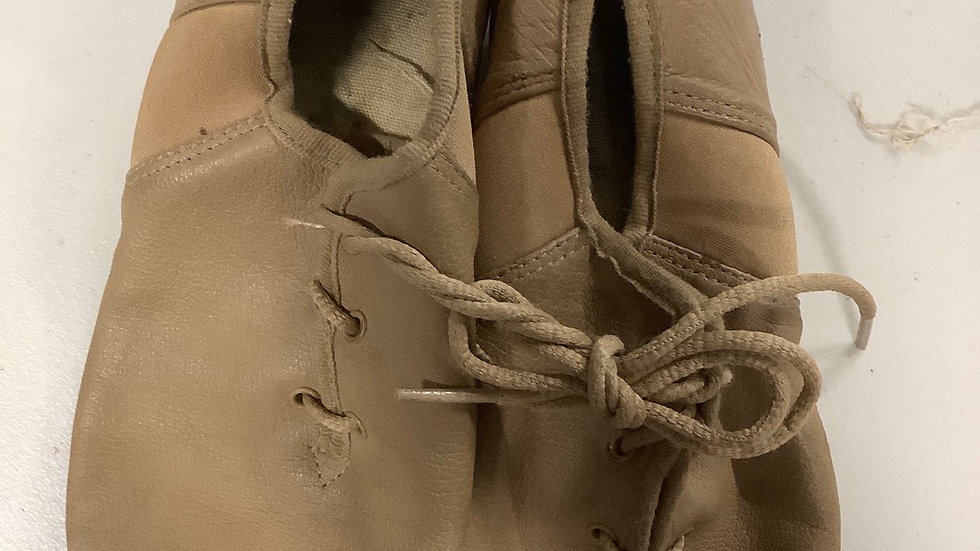 2nd hand jazz shoes (lace up) - GREEN