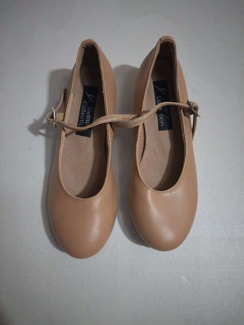 Like new second hand tan tap shoe