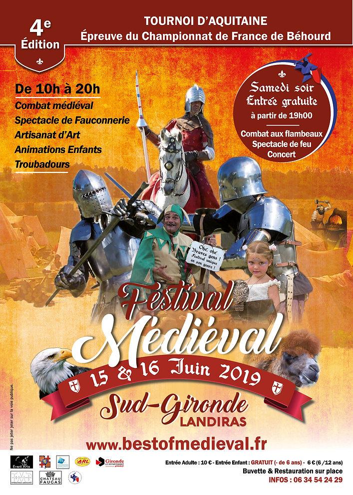 Affiche festival médiéval sud gironde Best of Médiéval 2019