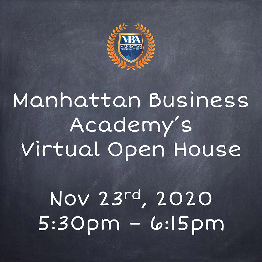 MBA's Virtual Open House Nov. 23th at 5:30pm