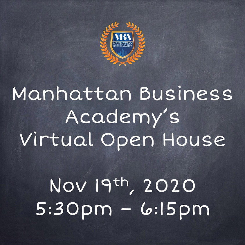 MBA's Virtual Open House Nov. 19th at 5:30pm