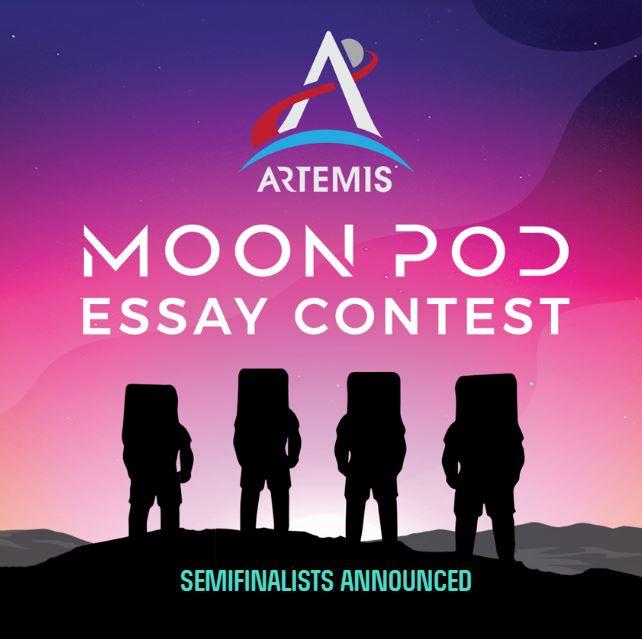 Artemis Moon Pod Essay Contest website image for their semifinalist annoucement.