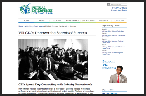 CEOs spend day connecting with students