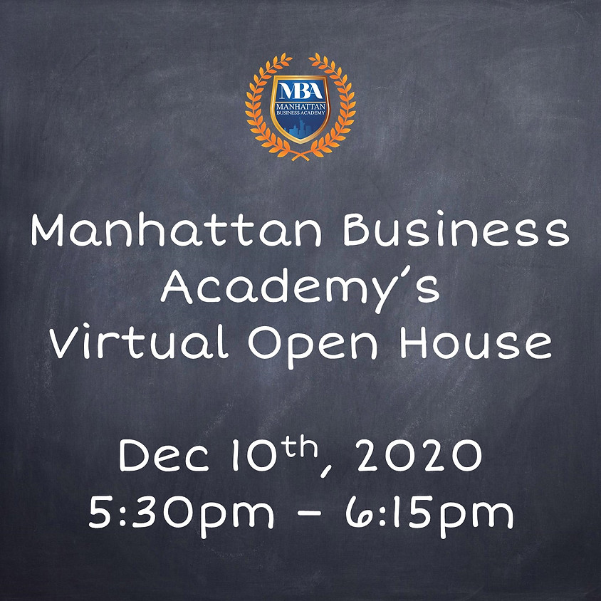 MBA's Virtual Open House Dec. 10th at 5:30pm