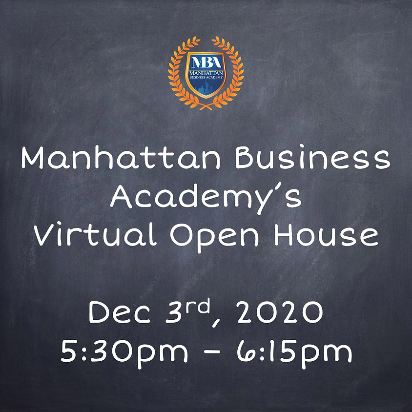 MBA's Virtual Open House Dec. 3rd at 5:30pm