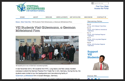 Anthony Balfour and several VE students from New York City headed overseas to Germany.