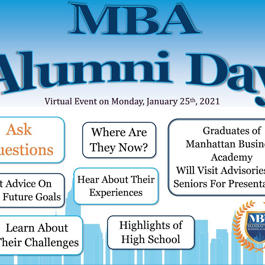 Virtual Alumni Day on Monday January 25th, 2021