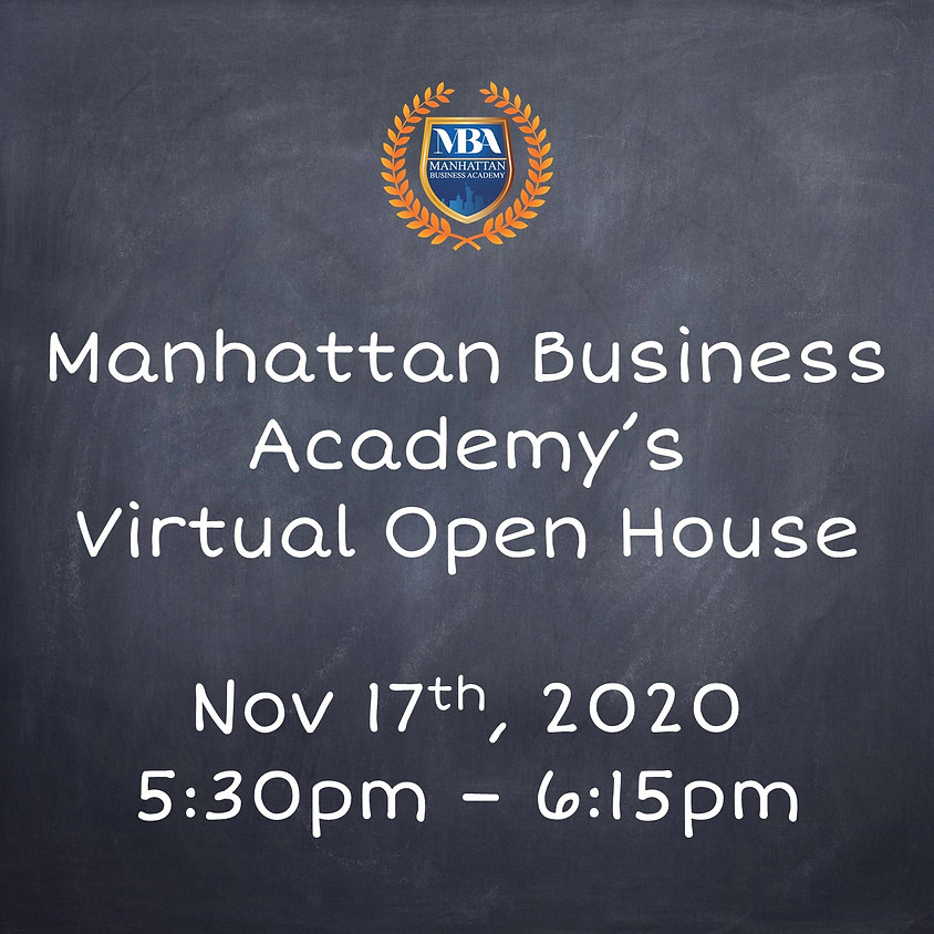MBA's Virtual Open House Nov. 17th at 5:30pm