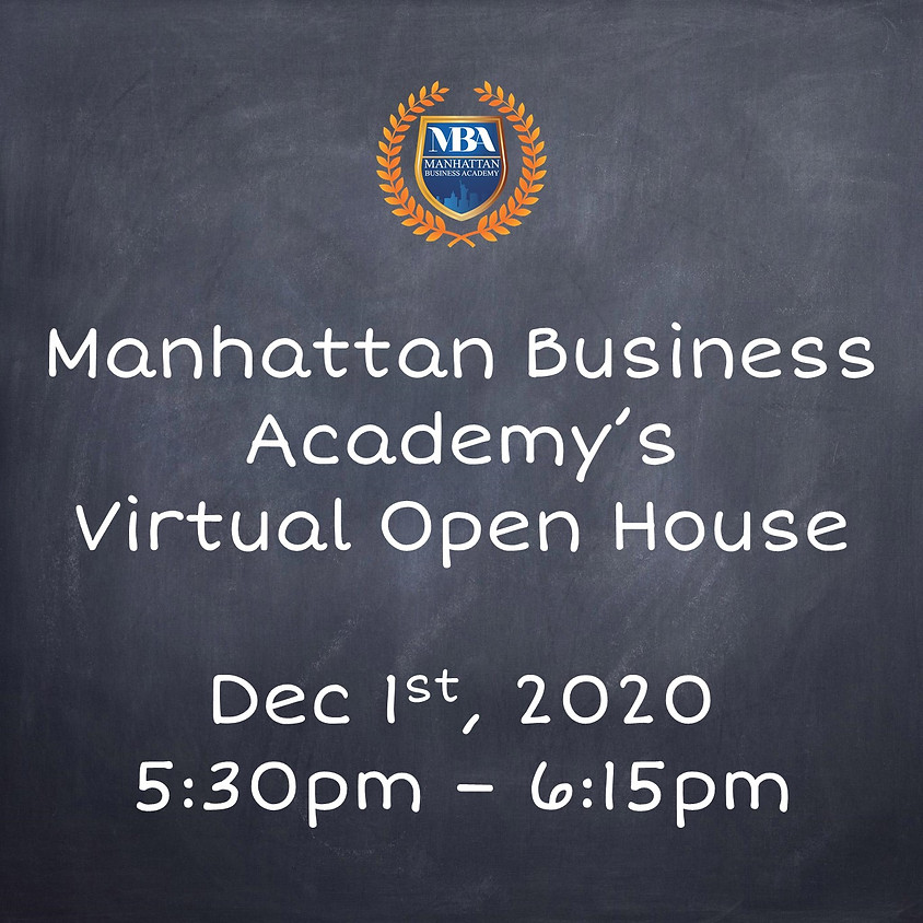 MBA's Virtual Open House Dec. 1st at 5:30pm