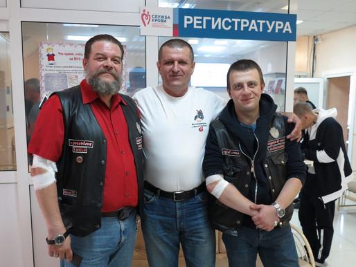 Екатеринбургские байкеры пополнили банк крови Свердловской области на 15 литров