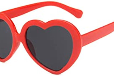Heart-shaped fun sunglasses