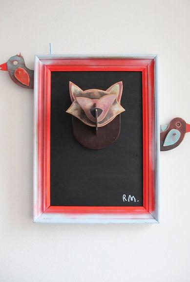 trophée-de-chasse-bois-le-corbeau-et-la-renard.