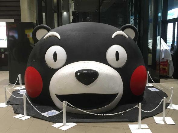 Kumamon at the Kumamoto station (KM)