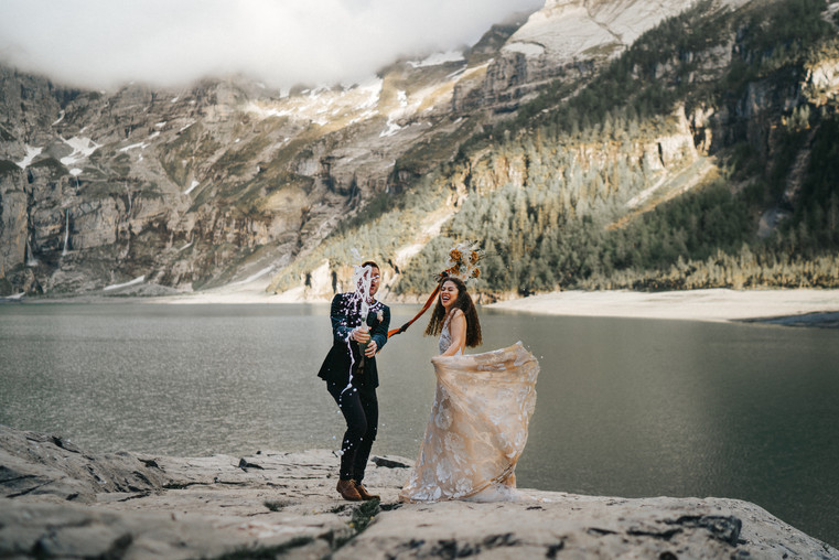 Oeschinensee Elopement Swiss Wedding Pho