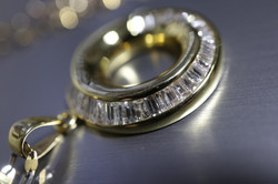 Baguettes Diamond Pendant