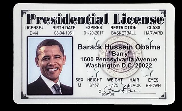 Toy - Obama Presidential License