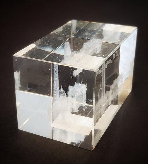 Crystal - Washington Laser Etched Hologram Square
