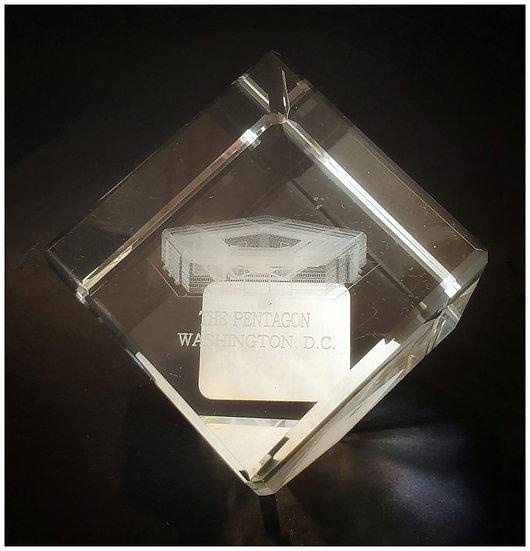 Crystal - Pentagon Laser Etched Hologram