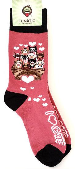 I Love Cats Sock