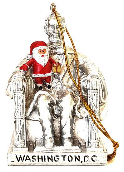 Replica - Abe Lincoln and Santa Ornament