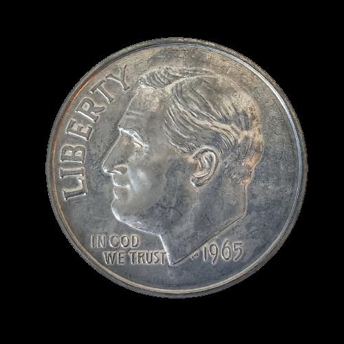"""Jumbo Coin - Collector 1965 Dime Replica - 3"""""""