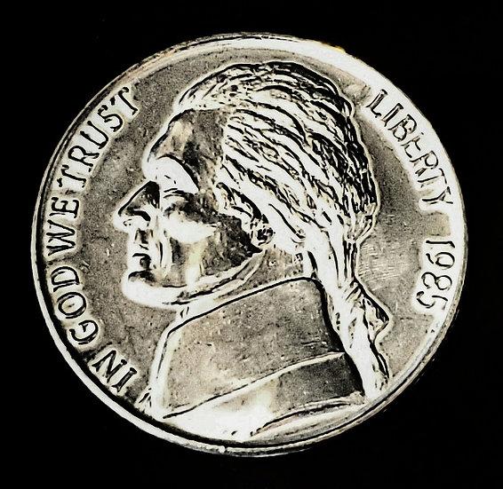 "Jumbo Coin - Nickel Replica - 3"""