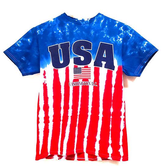 Adult T-Shirt - USA Flag Tie-Dye