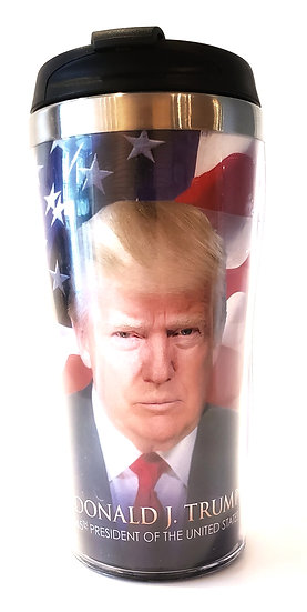 Trump/Flag Travel Mug