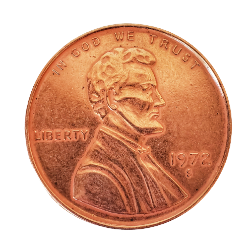 """Jumbo Coin - Collector One Cent 1972 Replica - 3"""""""