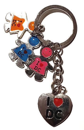 Keychain - I Heart DC Kids