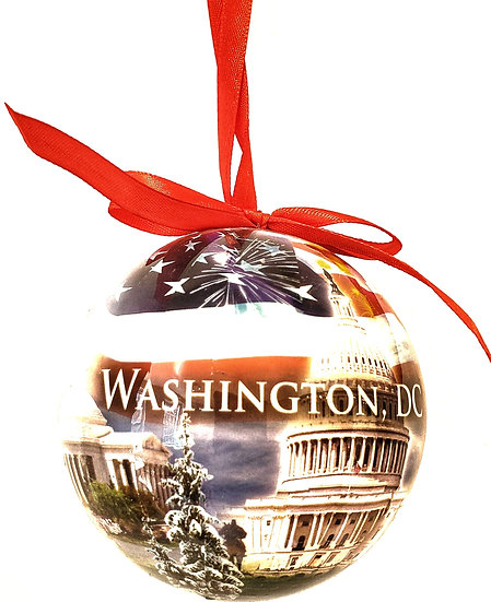 Washington DC Christmas Ornament Set