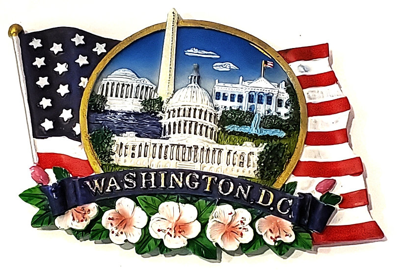 Magnet - Washington DC Flowers