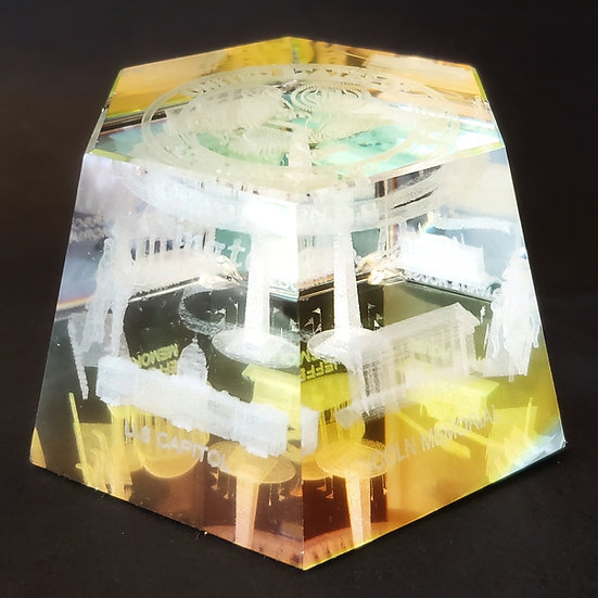 Crystal - Pentagon Presidential Seal Laser Etched Hologram