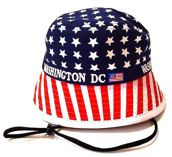 Bucket Hat - Red White Blue
