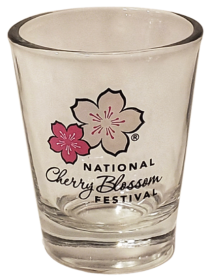 Shot Glass - NCBF Logo Cherry Blossom