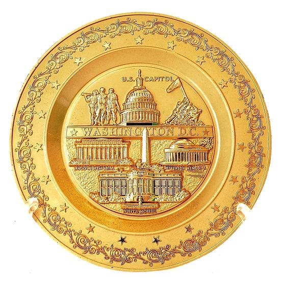 Plate - Washington DC Gold