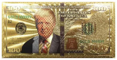 Envelope - Trump 100 Money (Gold)