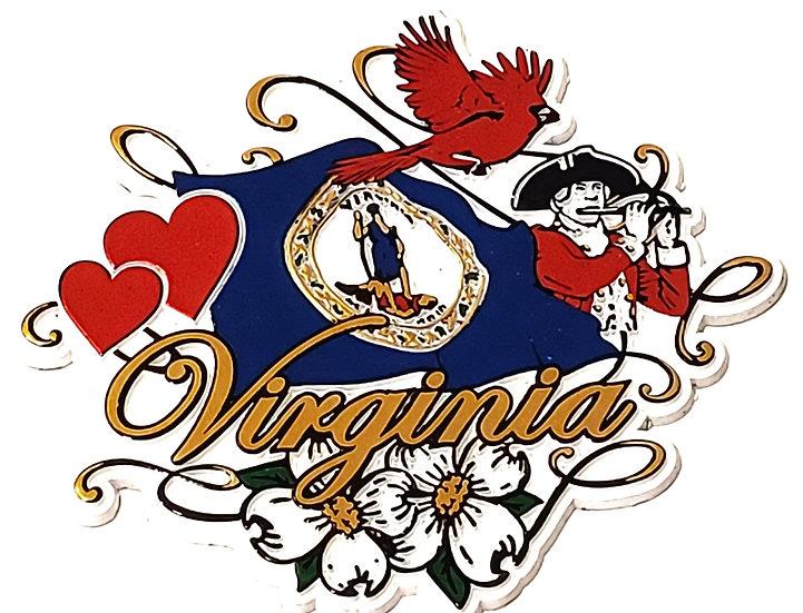 Magnet - Virginia Symbols