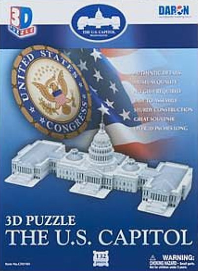 Puzzle - US Capitol 3D 132pcs