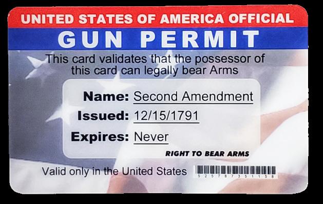 Toy - Gun Permit License