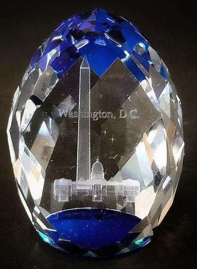 Crystal - Washington DC Oval Blue