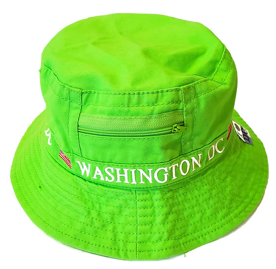Bucket Hat - Washington DC w/zipper