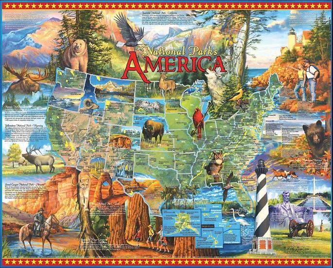 Puzzle - National Parks 1000 Piece Jigsaw