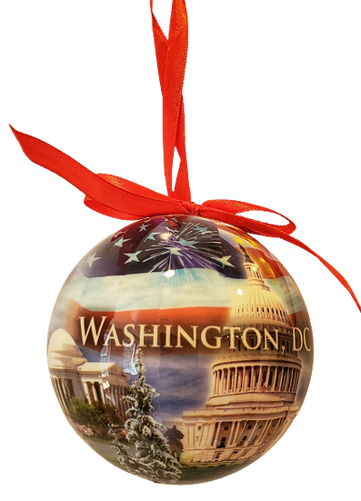 Washington DC Christmas Ornament Set