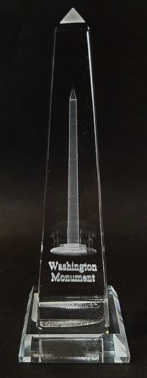 Crystal - Washington Monument Laser Etched Hologram