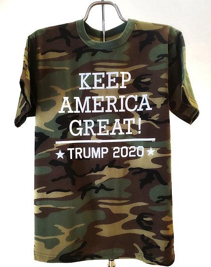 Adult T-Shirt - Trump 2020 KAG - Camo